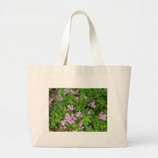 Bolsa Tote Grande Wildflowers delicados cor-de-rosa pequenos