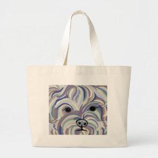 Bolsa Tote Grande Yorkie em cores da sarja de Nimes