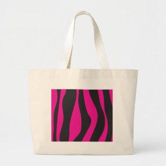 Bolsa Tote Grande Zebra cor-de-rosa