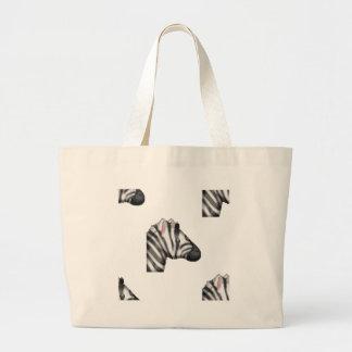 Bolsa Tote Grande zebra do emoji