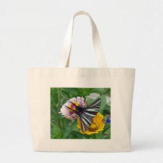 Bolsa Tote Grande Zebra Swallowtail+Besouro japonês