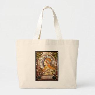 Bolsa Tote Grande Zodíaco de Alphonse Mucha