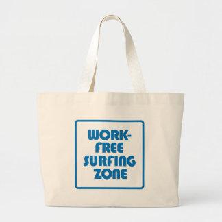 Bolsa Tote Grande Zona surfando livre do trabalho