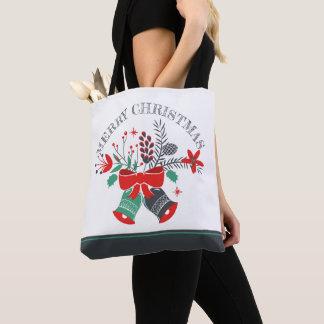 Bolsa Tote Grinalda de Bels do Feliz Natal