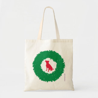 Bolsa Tote Grinalda flexível do Natal das orelhas do cão -
