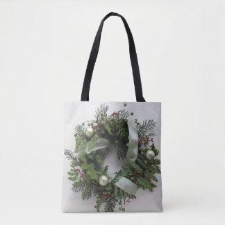 Bolsa Tote Grinalda verde do Natal