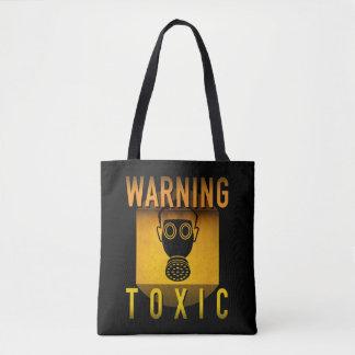 Bolsa Tote Grunge retro de advertência tóxico da idade