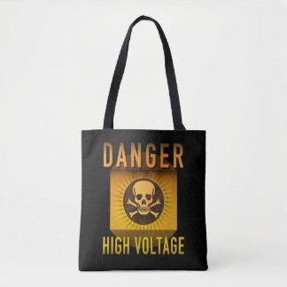 Bolsa Tote Grunge retro de alta tensão da idade atômica do