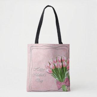 Bolsa Tote Grupo da sacola cor-de-rosa do dia das mães das