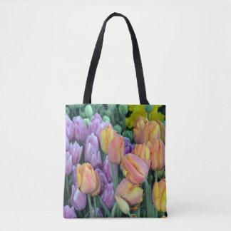 Bolsa Tote Grupos coloridos das tulipas