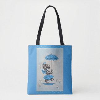 Bolsa Tote Guarda-chuva do carregando da senhora do cão do