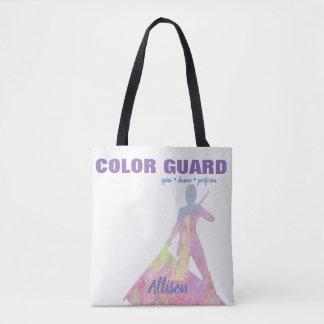 Bolsa Tote Guarda de cor com figura da silhueta do executor