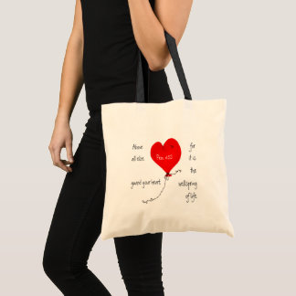 Bolsa Tote Guarde seu saco do cristão do coração