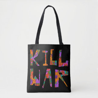Bolsa Tote Guerra do matar (flower power)