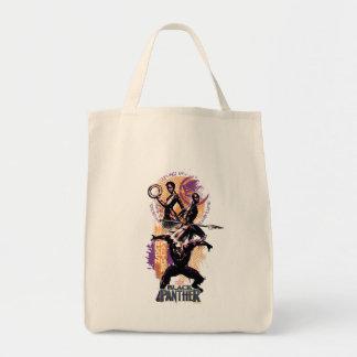 Bolsa Tote Guerreiros da pantera preta   Wakandan pintados