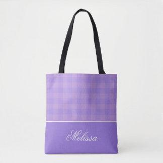 Bolsa Tote Guingão | da orquídea e da lavanda personalizado