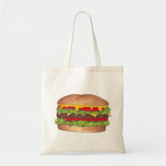 Bolsa Tote Hamburguer do cheeseburger com queijo no saco do