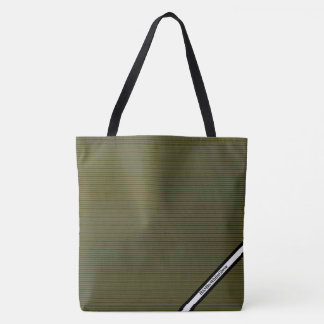 Bolsa Tote HAMbyWG - sacola - alga listra o logotipo de W