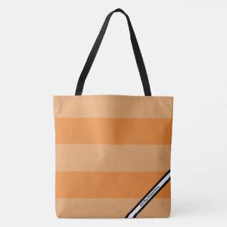 Bolsa Tote HAMbyWG - sacola do LG - logotipo alaranjado de w
