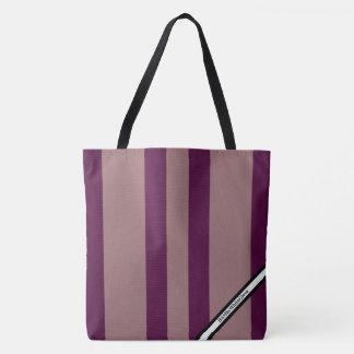 Bolsa Tote HAMbyWG - sacola do LG - logotipo de w da listra