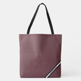 Bolsa Tote HAMbyWG - sacola - obscuridade - o vermelho listra