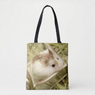 Bolsa Tote Hammyville - hamster bonito com iniciais