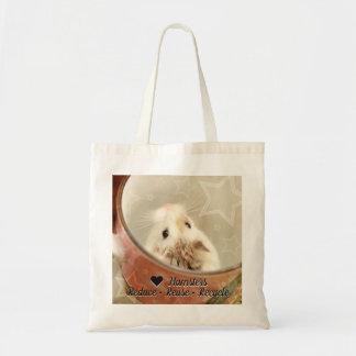 Bolsa Tote Hammyville - o hamster do amor reduz o reciclar