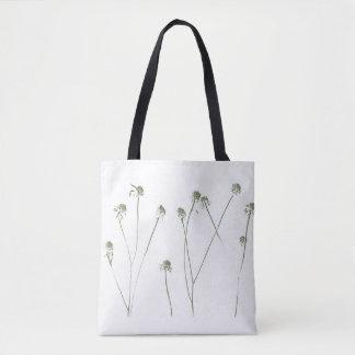 Bolsa Tote Hastes longas da flor com vagens da semente