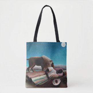 Bolsa Tote Henri Rousseau o vintage aciganado do sono