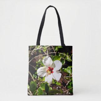 Bolsa Tote Hibiscus branco