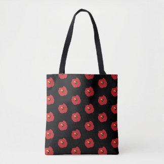Bolsa Tote Hibiscus do vermelho do verão
