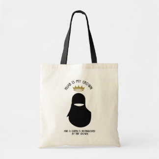 Bolsa Tote Hijab é minha coroa - NIQAB - BLA - SEM CARA