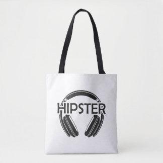 Bolsa Tote Hipster dos fones de ouvido da música