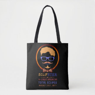 Bolsa Tote Hipster engraçado eclipse solar do 21 de agosto de