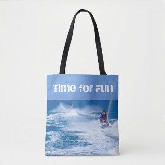 Bolsa Tote Hora para a sacola do Mar-Doo do divertimento