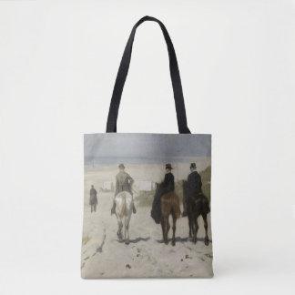 Bolsa Tote Horseback passeio ao longo da praia - belas artes