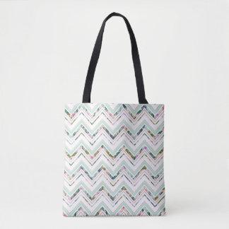 Bolsa Tote Hortelã & sacola feita sob encomenda branca de
