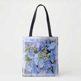 Bolsa Tote Hydrangeas azuis