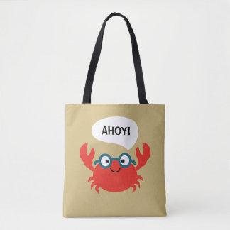 Bolsa Tote Ilustração bonito do caranguejo de Specky