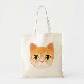 Bolsa Tote Ilustração bonito do gato de gato malhado