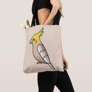 Bolsa Tote Ilustração bonito do pássaro dos desenhos animados