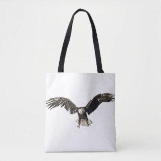 Bolsa Tote Ilustração da arte do polígono de Eagle