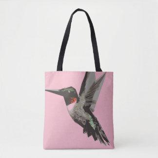 Bolsa Tote Ilustração da arte do polígono do colibri