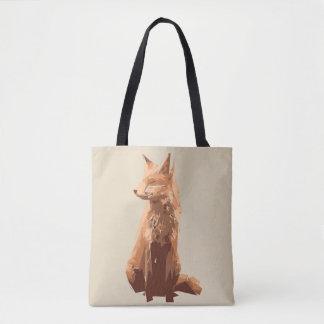 Bolsa Tote Ilustração da arte do polígono do Fox