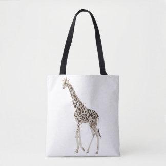 Bolsa Tote Ilustração da arte do polígono do girafa