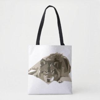 Bolsa Tote Ilustração da arte do polígono do lobo