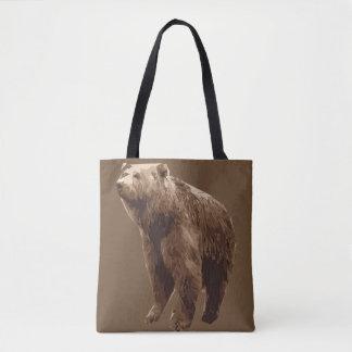 Bolsa Tote Ilustração da arte do polígono do urso