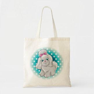 Bolsa Tote Ilustração de um yorkshire terrier bonito do cão