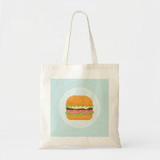 Bolsa Tote Ilustração do Hamburger com tomate e alface