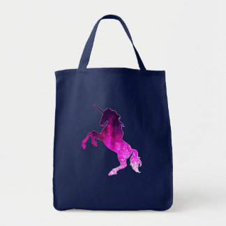 Bolsa Tote Imagem sparkly do unicórnio bonito cor-de-rosa da